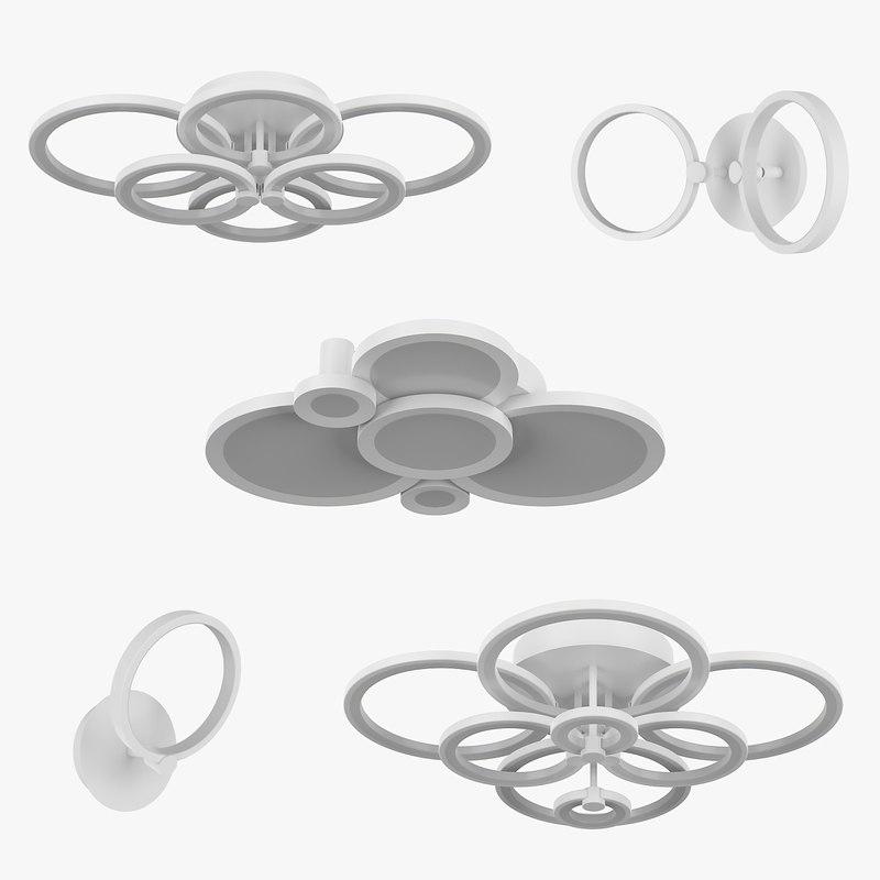 3D 749 breve lightstar chandelier