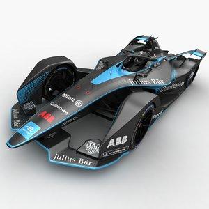 3D model abb formula e racecar