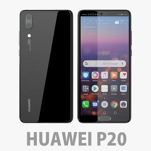 3D model huawei p20 20