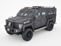 police Lenco Bearcat armored van