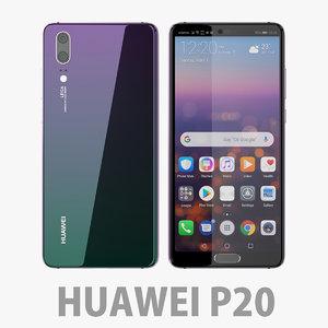 huawei p20 20 3D model