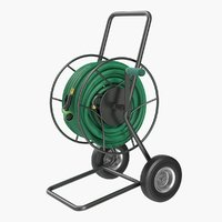 garden reel cart trolley 3D model
