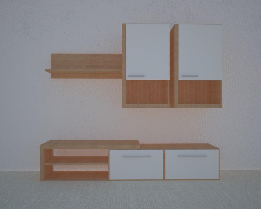 3D furniture living room model