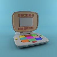 3D cartoon laptop model