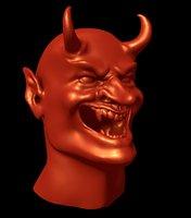 3D devils head