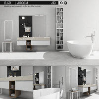 bathroom furniture set arcom 3D model