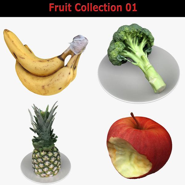 3D fruits real model