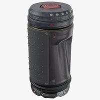 3D sci fi grenade