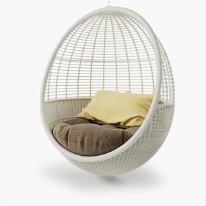 pod hanging chair 3D model