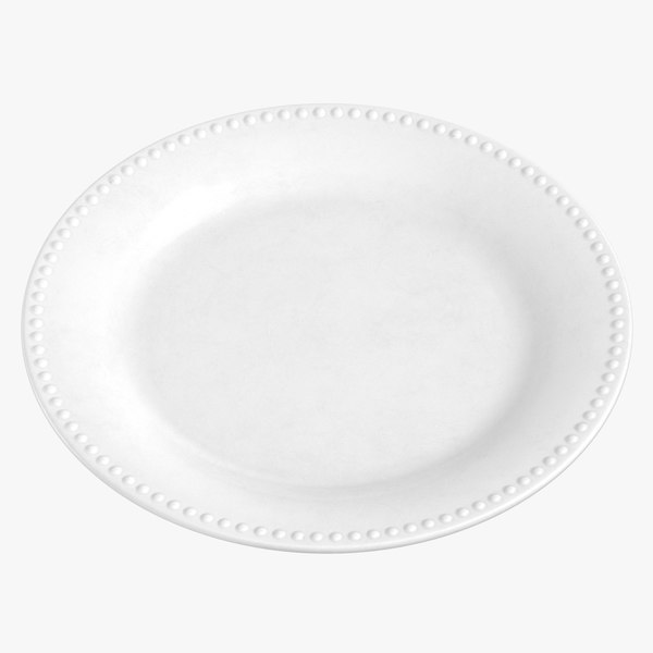 3D model classical tableware plate 01