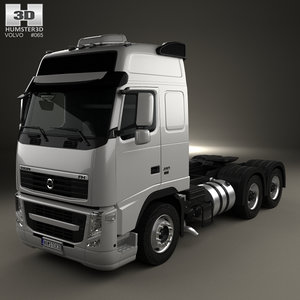 fh 2008 3-axle 3D model