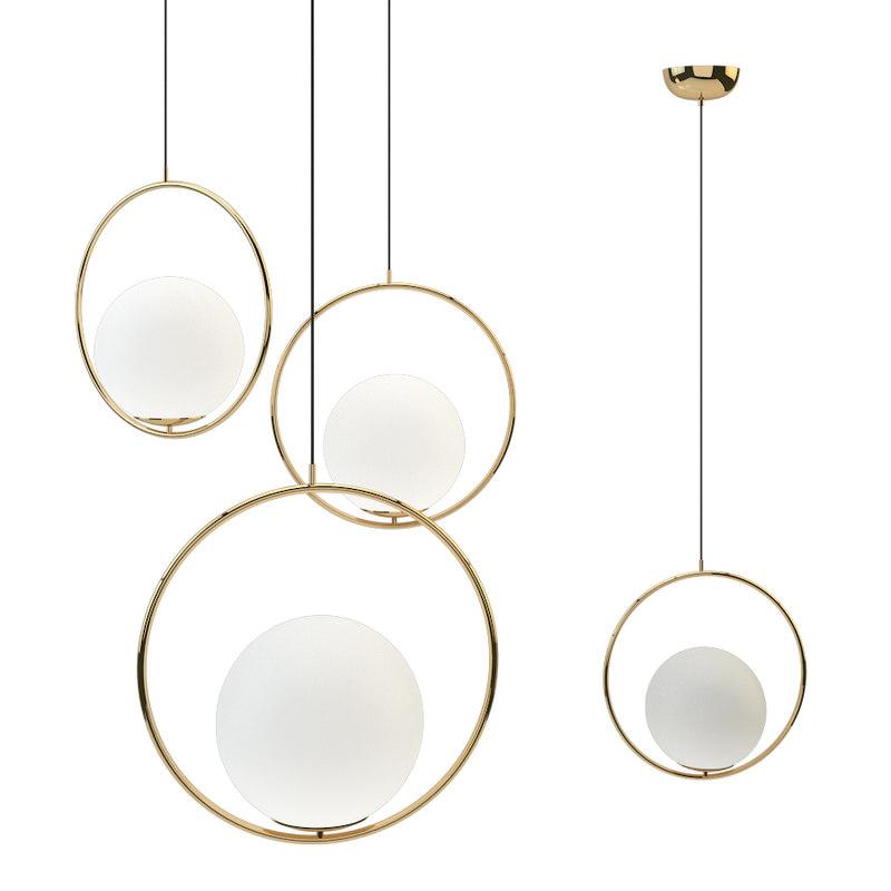 suspension pendant light brass 3D