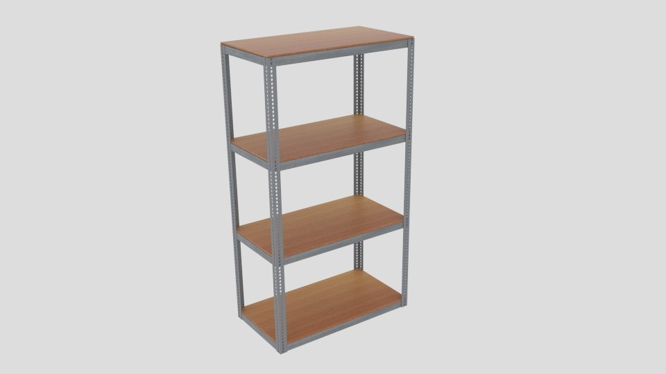 3D warehouse shelving industrial model