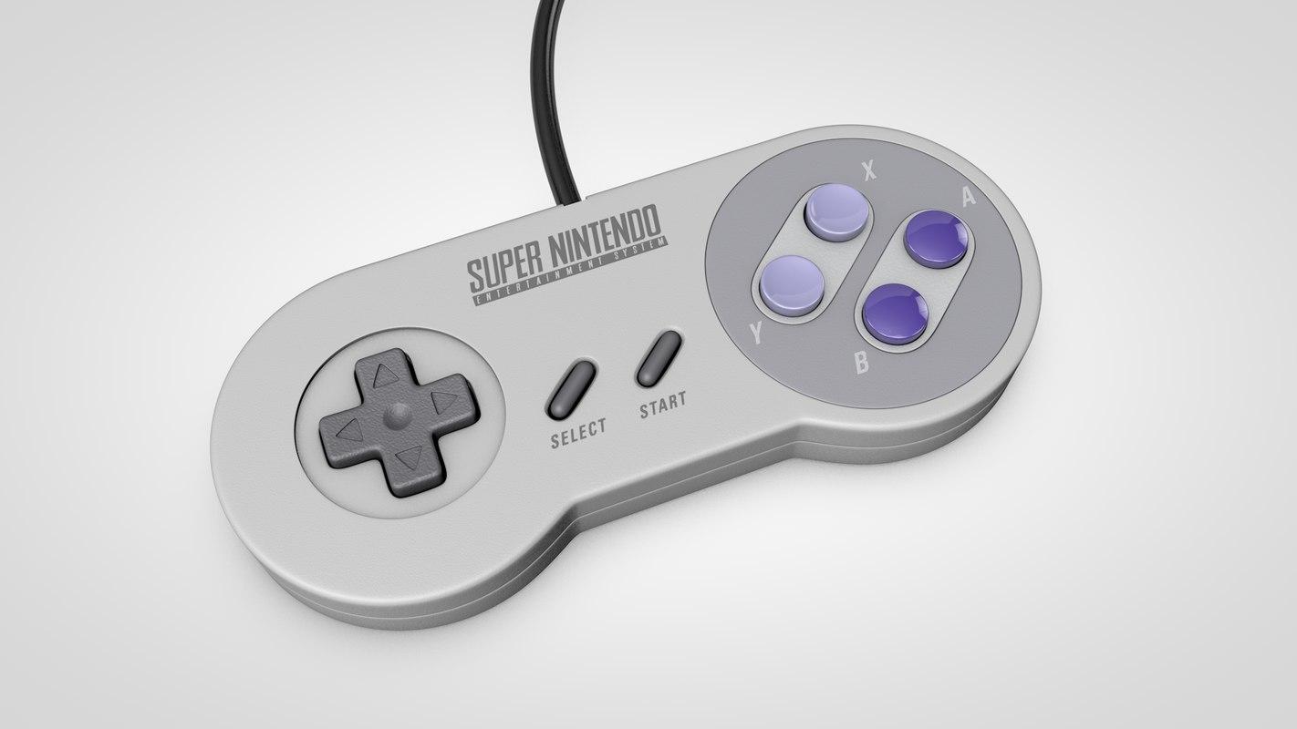3D super nes controller