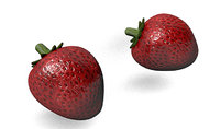 3D strawberry realistic