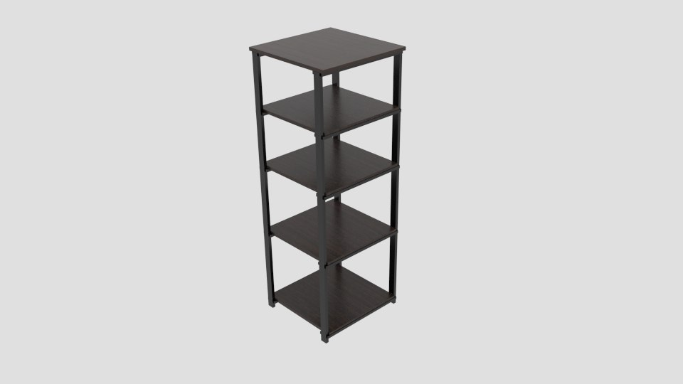 origami folding decorative 4-shelf model
