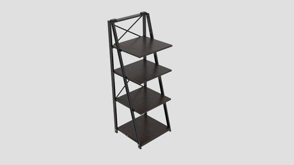 origami folding decorative 4-shelf 3D model