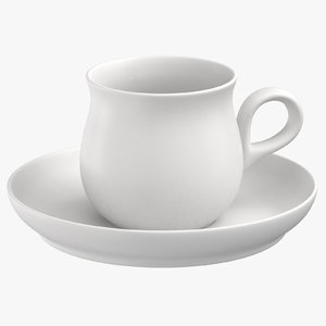 3D modern tableware teacup model
