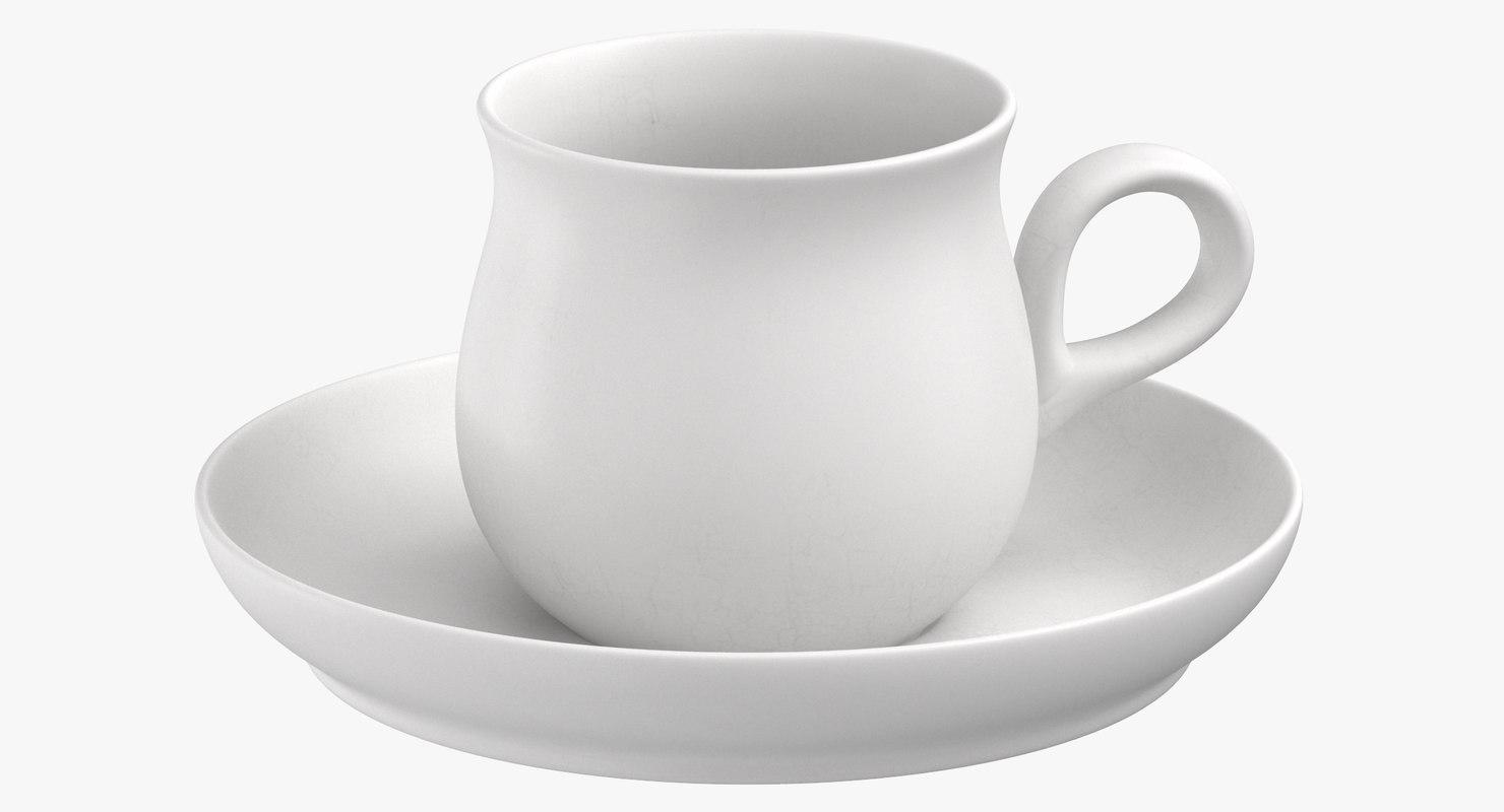 3D modern tableware teacup model