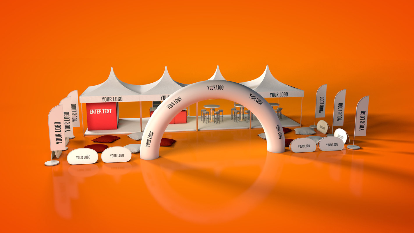 outdoor event tent stand 3D model