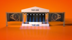 3D model outdoor concert stage