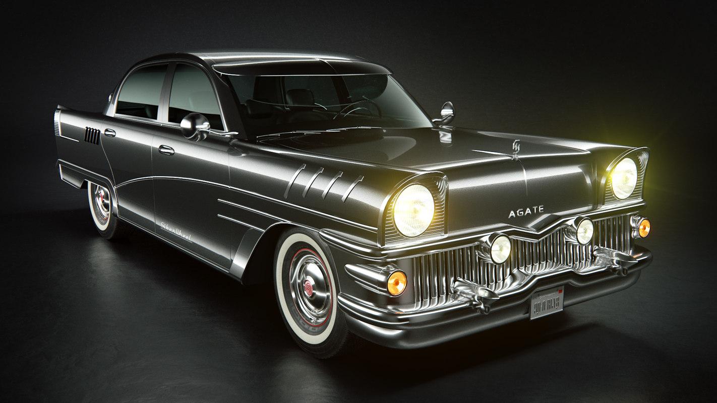 old classic car agate 3D model