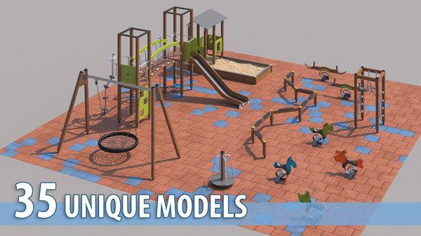 modern children playground model