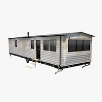 3D old mobile home model