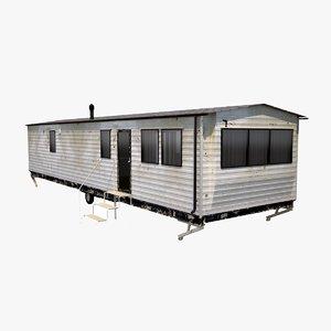 3D old mobile home model