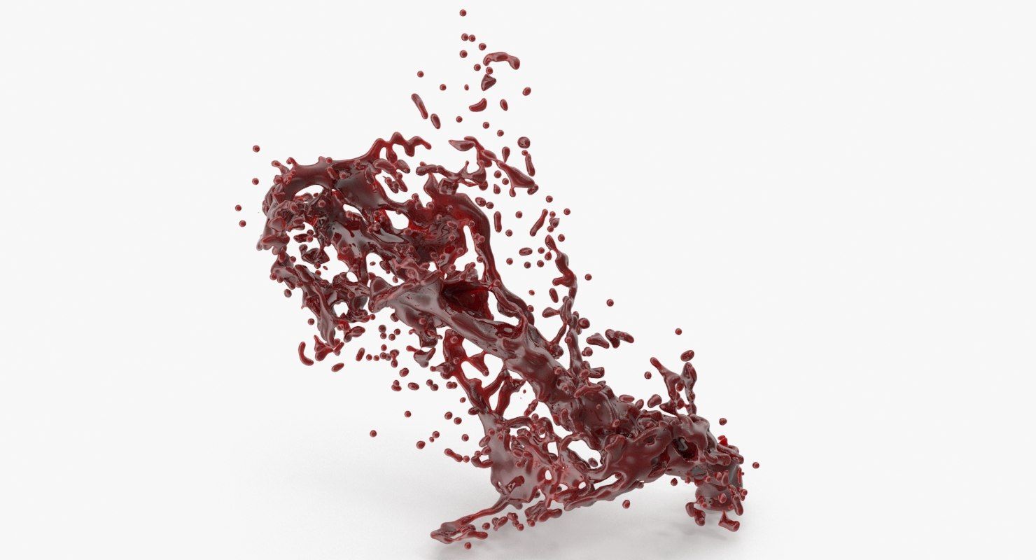 3D model blood splash