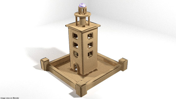 building lighthouse 3D