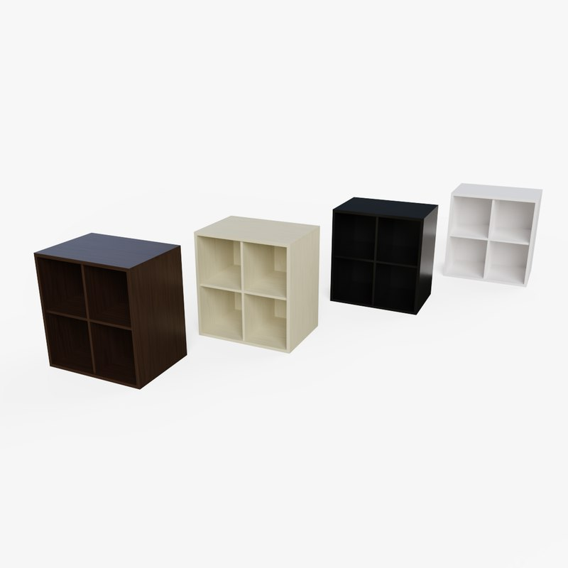 bookcase small cabinet ready 3D