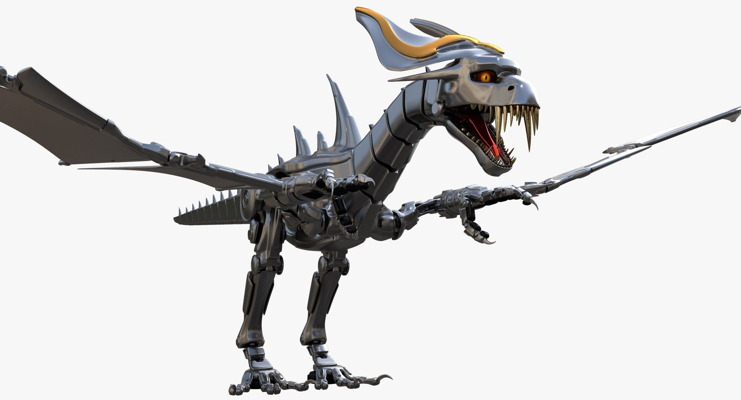 robot dragon model turbosquid 1280056