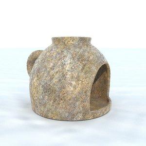 pot antique 6 3D