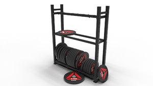 3D gym bumper disks weights