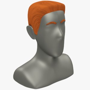 hairstyle young man hair 3D model