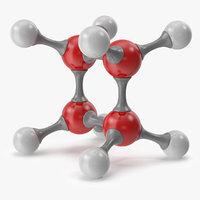 cyclobutane molecular model