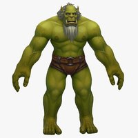 3D world warcraft male orc