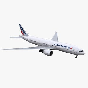 777-200 aircraft air france 3D model