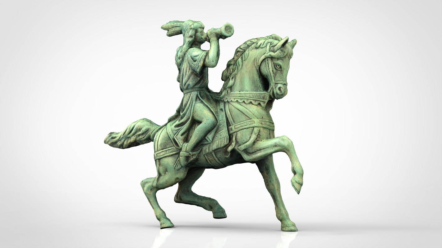 3D equestrian statue
