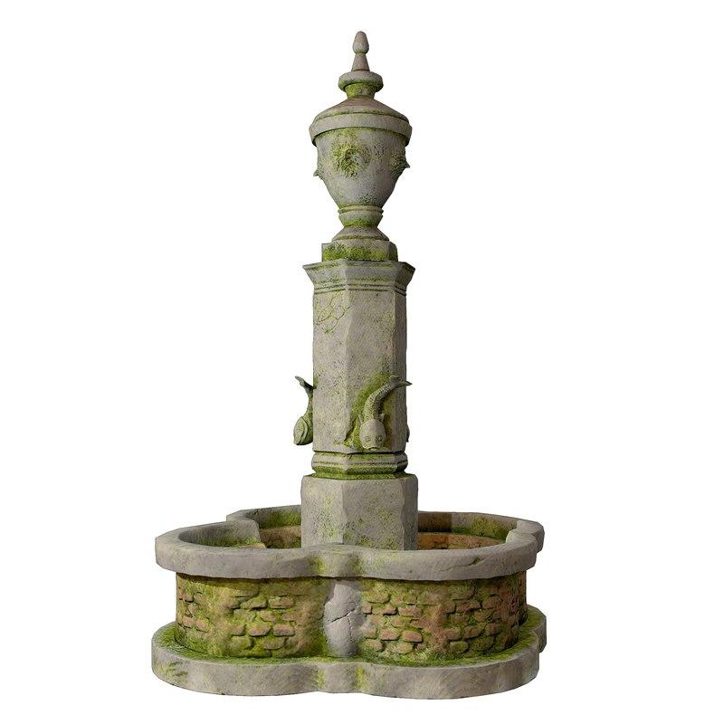 fountain ready tris 3D