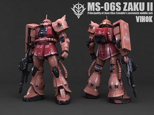 3D ms-06s zaku ii model