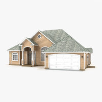 two-story cottage 59 3D model