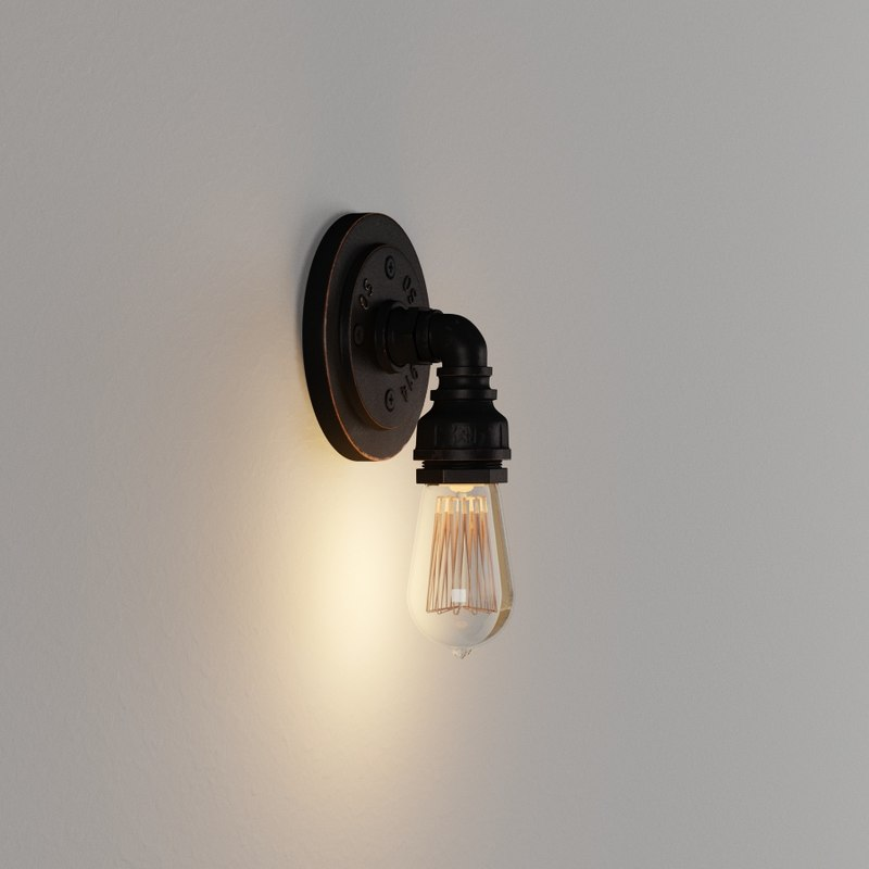 3D model antique wall light