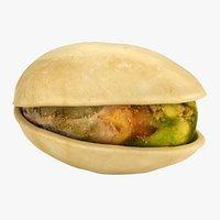 realistic pistachio 3D model