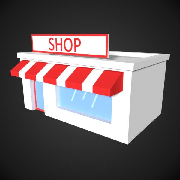 shop store 1 3D