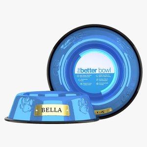 3D model large bowl sapphire blue