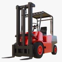 3D forklift truck balkancar model