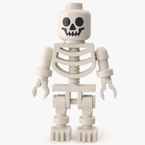 3D original lego skeleton minifigure