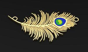 3D silver gold pendant